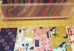 Cutting into hoarded fabric….