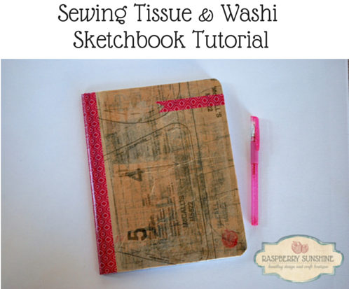 Sewing Tissue & Washi Sketch BookA