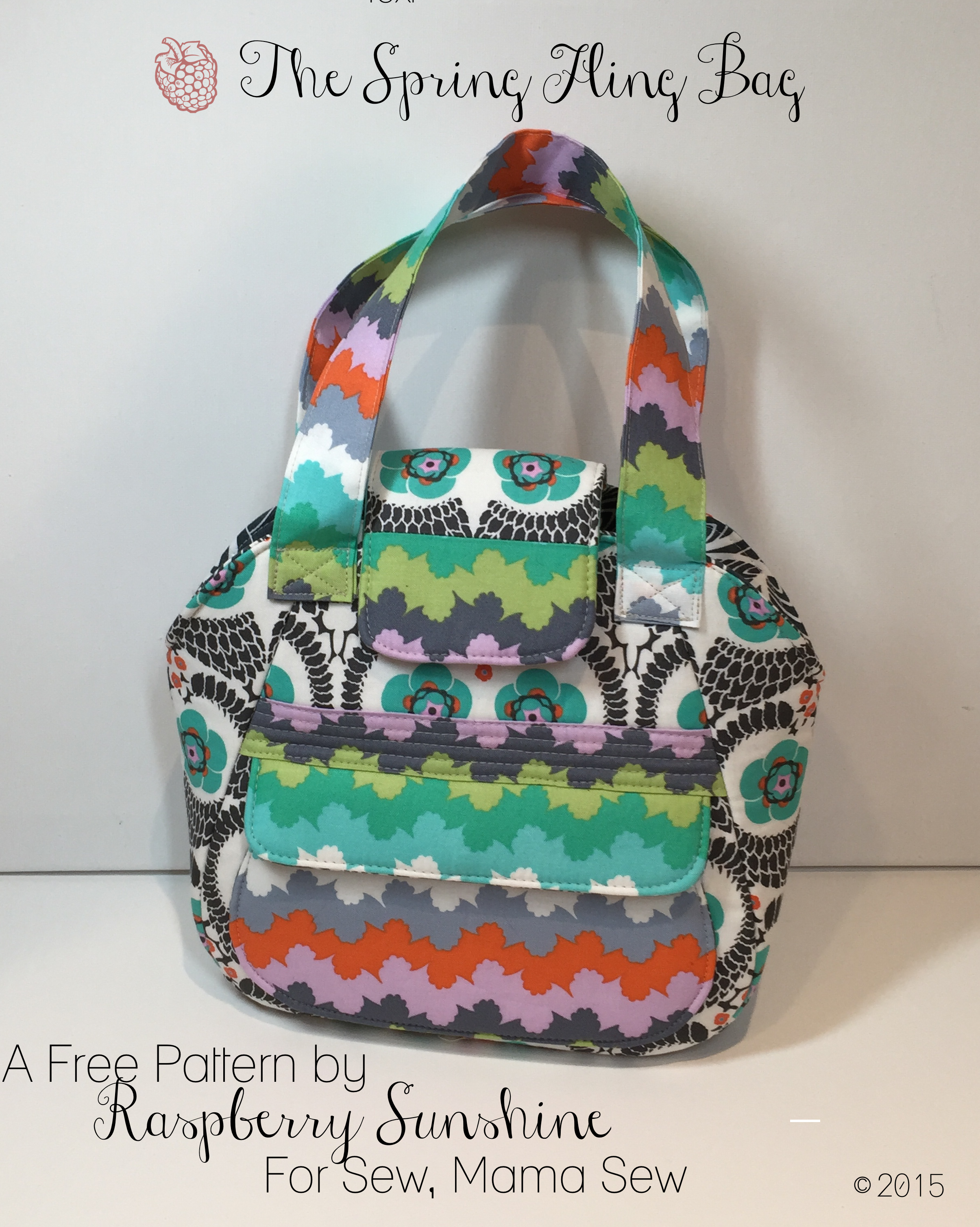 Free pattern the spring fling bag raspberry sunshine i am so excited to share with you a free new pattern i created for sew mama sew ive been giving sneak peeks on ig for a few weeks jeuxipadfo Image collections