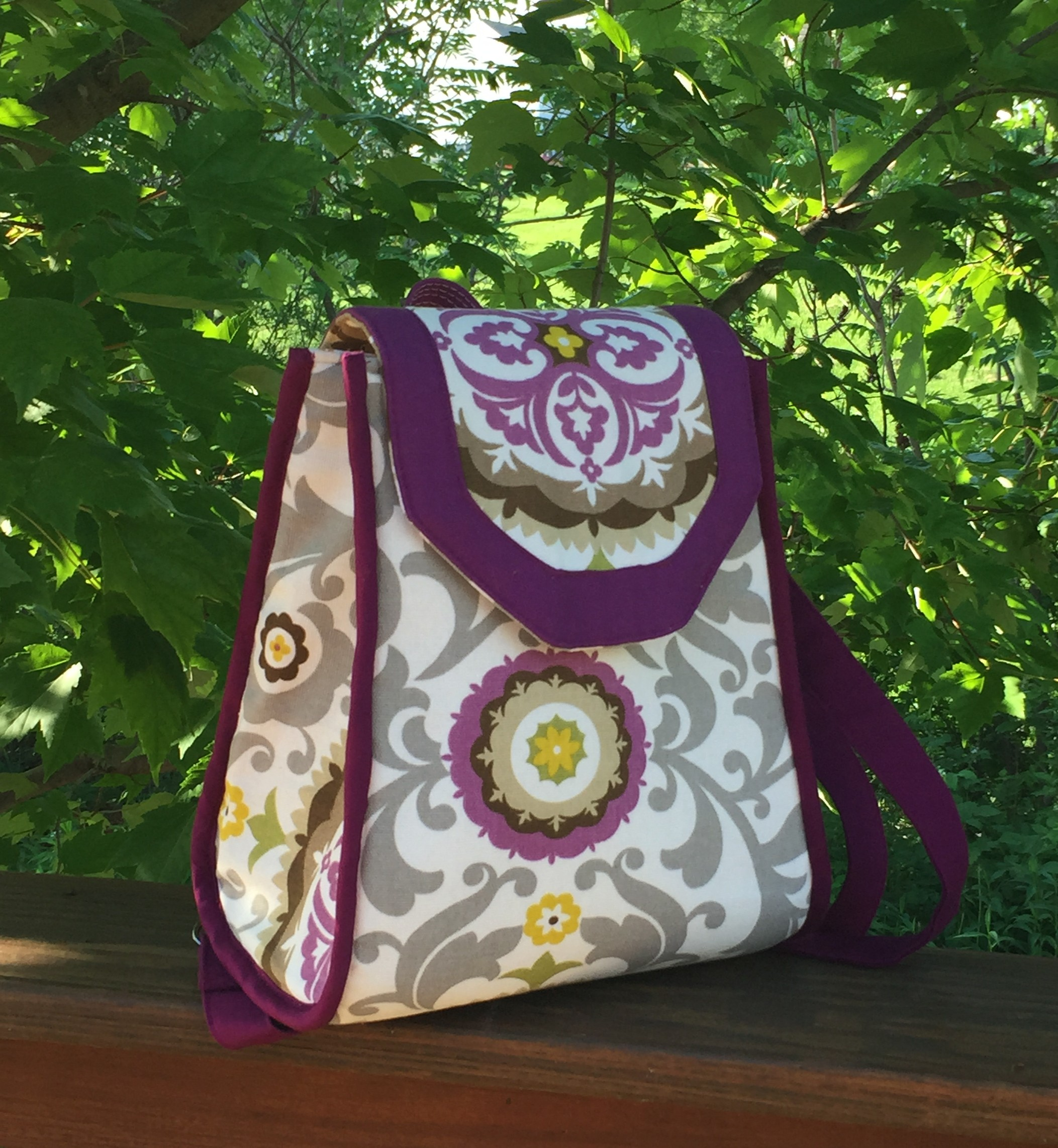 The Promise Ring Backpack By Sew Sweetness Raspberry Sunshine